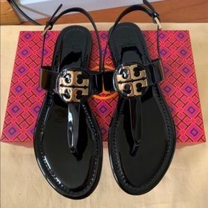 Tory Burch Everly Thong Sandal Patent Leather